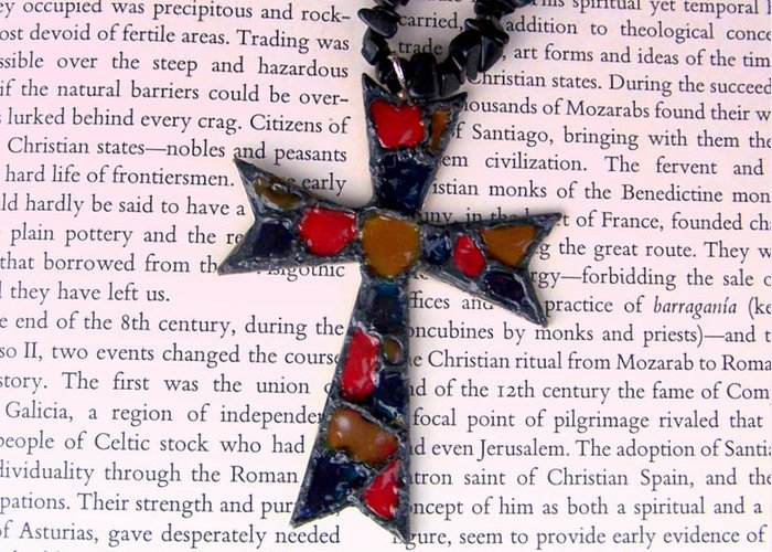 Bible Greeting Card featuring the jewelry Christian Cross by Cynthia Amaral