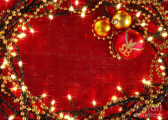 Backdrop Greeting Card featuring the photograph Christmas Frame by Carlos Caetano