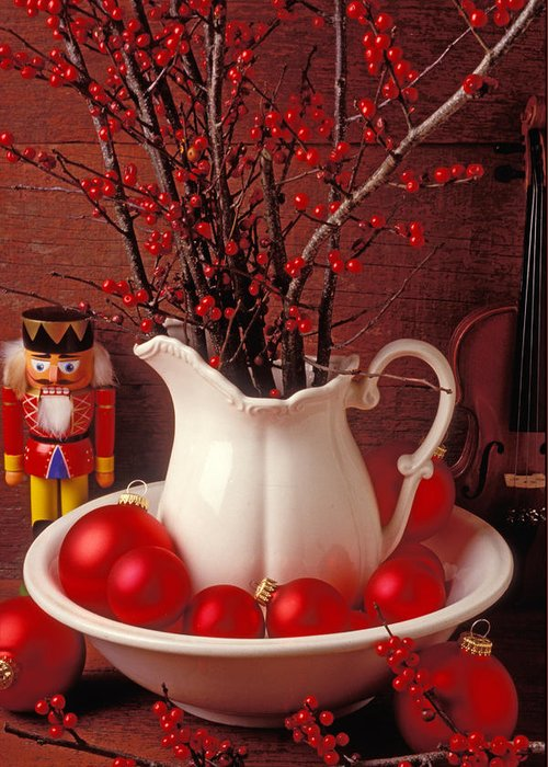 Christmas Greeting Card featuring the photograph Christmas Still Life by Garry Gay