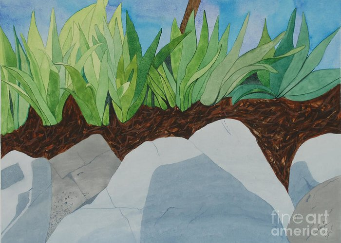Greeting Card featuring the painting Chromitic Iris by Jennifer Taylor Rogerson