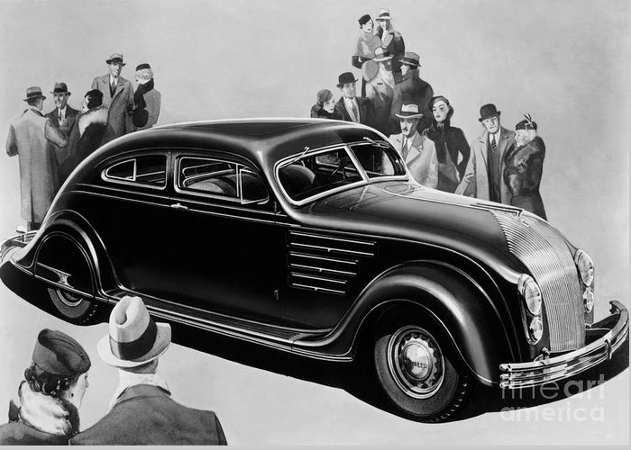 Chrysler Airflow Greeting Card featuring the photograph Chrysler Airflow by Photo Researchers