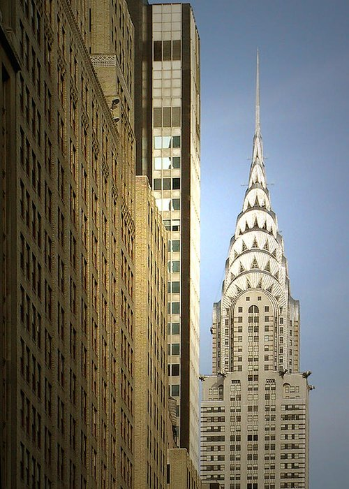 Chrysler Greeting Card featuring the photograph Chrysler Building Nyc - Streamlined Majesty by Christine Till