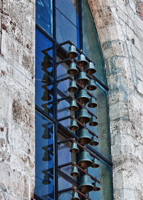 St Mary Magdalene Tower Greeting Card featuring the photograph Church Bells by Shirley Mitchell
