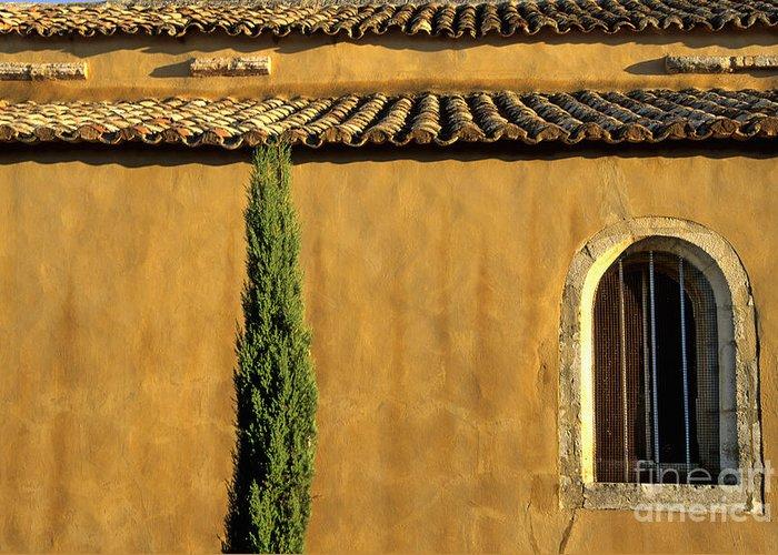 The Tourist Trade Greeting Card featuring the photograph Church. Provence by Bernard Jaubert