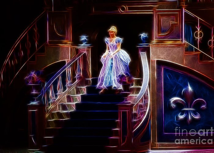 Cinderella Greeting Card featuring the photograph Cinderella Enters The Ball by Darleen Stry