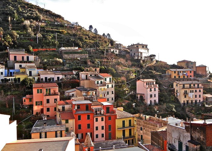 Cinque Terre Greeting Card featuring the photograph Cinque Terre I by David Ritsema
