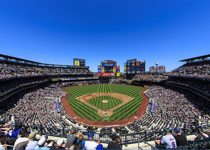 Stadium Greeting Card featuring the photograph Citifield by Rick Berk