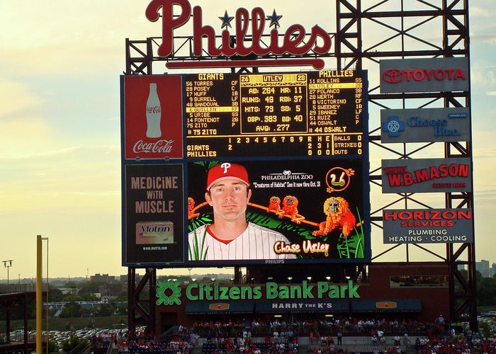 Phillies Greeting Card featuring the photograph Citizens Bank Park 2 by See Me Beautiful Photography