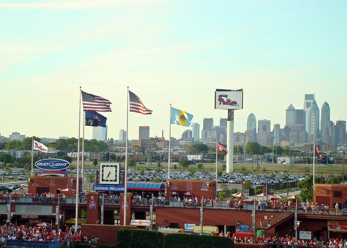 Sports Greeting Card featuring the photograph Citizens Bank Park 3 by See Me Beautiful Photography