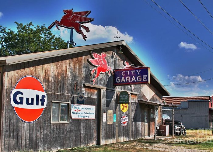 Salado Greeting Card featuring the photograph City Garage by Joe Finney
