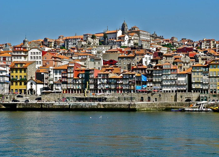 Porto Greeting Card featuring the photograph City on a Hill on a River by Kirsten Giving