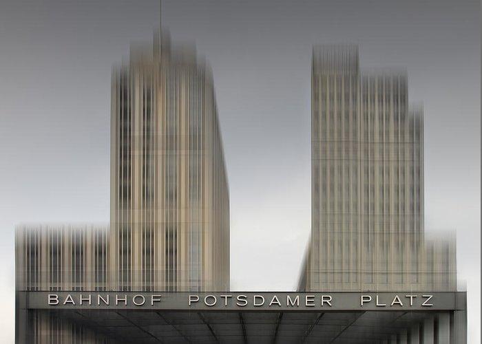 Berlin Greeting Card featuring the photograph City-shapes Berlin Potsdamer Platz by Melanie Viola