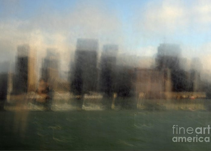 San Francisco Greeting Card featuring the photograph City View Through Window by Catherine Lau