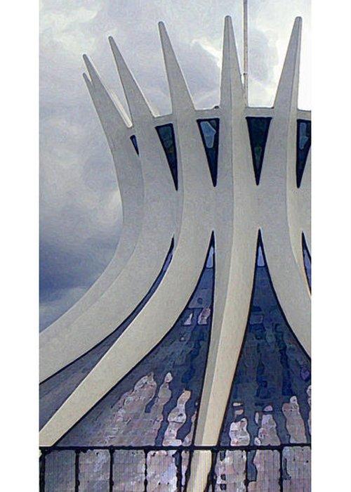 Brasilia Greeting Card featuring the photograph Citymarks Brasilia by Roberto Alamino