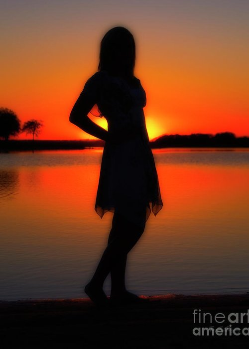 Sunset Greeting Card featuring the photograph Claire by Tamyra Ayles