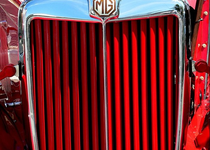 Mg Greeting Card featuring the photograph Classic Red Mg by Jeff Lowe