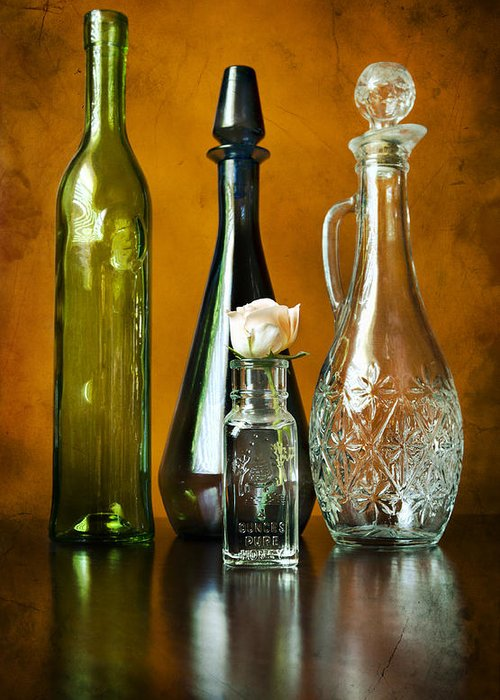 Colored Greeting Card featuring the photograph Classy Glass by Peter Chilelli
