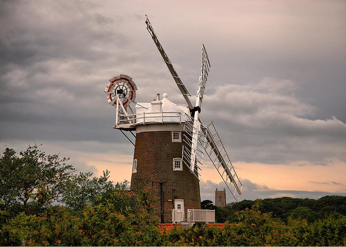 Cley Windmill Greeting Card featuring the photograph Cley Windmill by Chris Thaxter