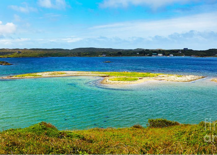 Clifden Quay Greeting Card featuring the photograph Clifden Bay by Gabriela Insuratelu