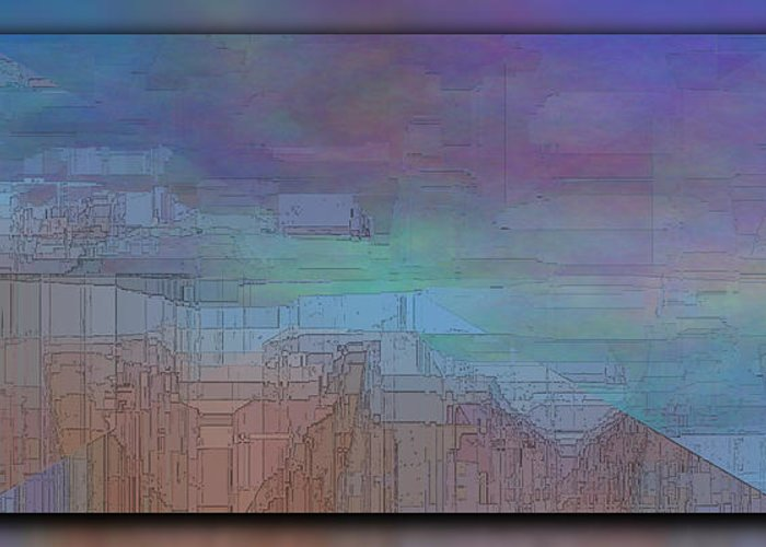 Abstract Greeting Card featuring the digital art Climate Differential by Tim Allen