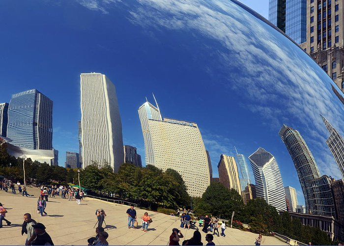 Cloud Greeting Card featuring the photograph Cloud Gate Millenium Park Chicago by Christine Till