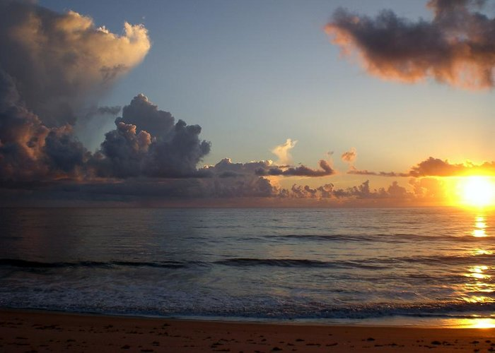 Early Sunrise Greeting Card featuring the photograph Cloud Menagerie by Vincent Di Pasquo