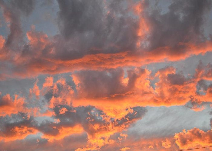 Sunset Greeting Card featuring the photograph Clouds On Fire by Kevin Bone