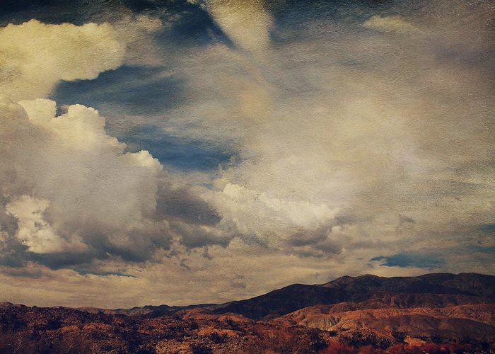 Palm Desert Greeting Card featuring the photograph Clouds Please Carry Me Away by Laurie Search