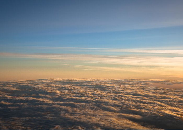 Clouds Greeting Card featuring the photograph Cloudscape From A 757 by David Patterson