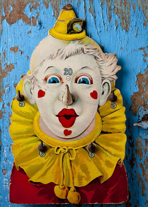 Clown Greeting Card featuring the photograph Clown Toy Game by Garry Gay
