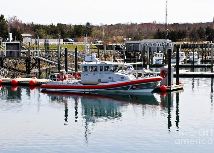 Cape Cod Greeting Card featuring the photograph Coast Guard by Extrospection Art