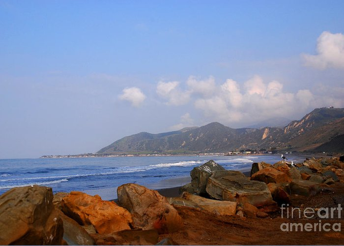 Coast Line Greeting Card featuring the photograph Coast Line California by Susanne Van Hulst