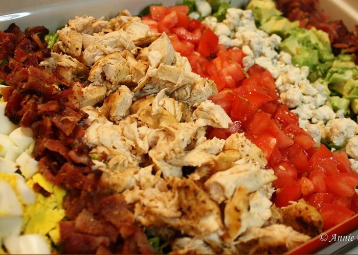 Cobb Greeting Card featuring the photograph Cobb Salad by Anne Babineau