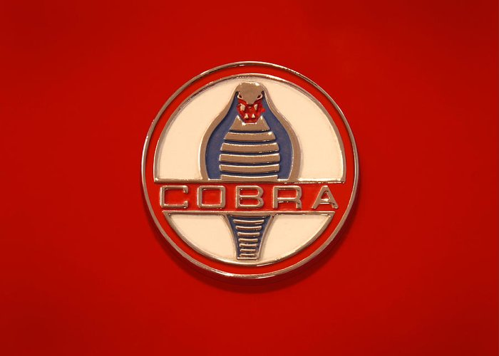Transportation Greeting Card featuring the photograph Cobra Emblem by Mike McGlothlen