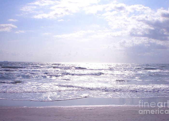Cocoa Beach Greeting Card featuring the photograph Cocoa Beach Afternoon by Cindy Lee Longhini