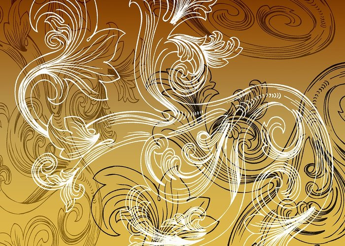 Flowers Greeting Card featuring the digital art Coffee Flowers 2 Calypso by Angelina Vick
