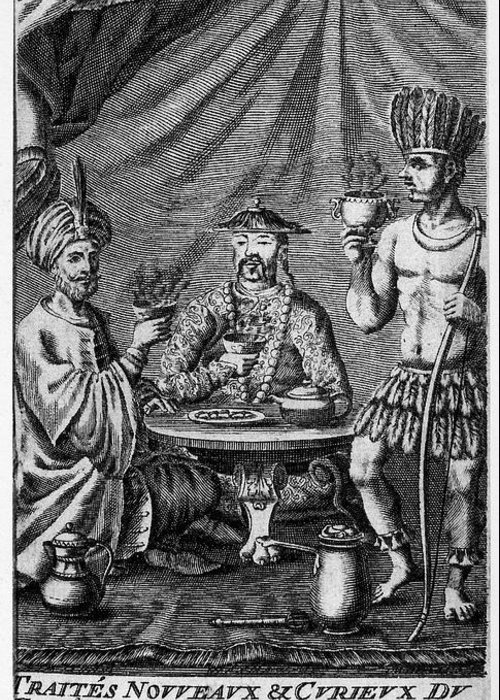 1685 Greeting Card featuring the photograph Coffee, Tea & Chocolate, 1685 by Granger