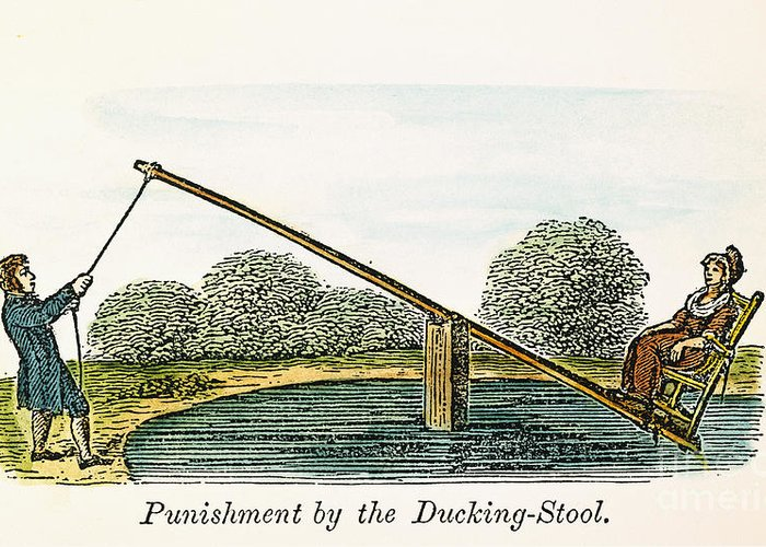 17th Century Greeting Card featuring the photograph Colonial Ducking Stool by Granger