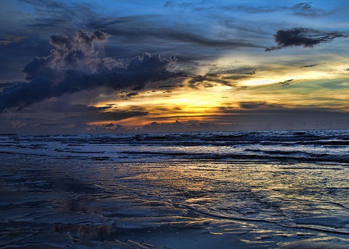 Sunset Greeting Card featuring the photograph Color Of Light V3 by Douglas Barnard