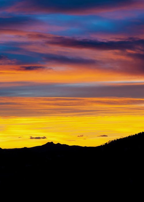 Colorado Greeting Card featuring the photograph Colorado Sunrise -vertical by Beth Riser