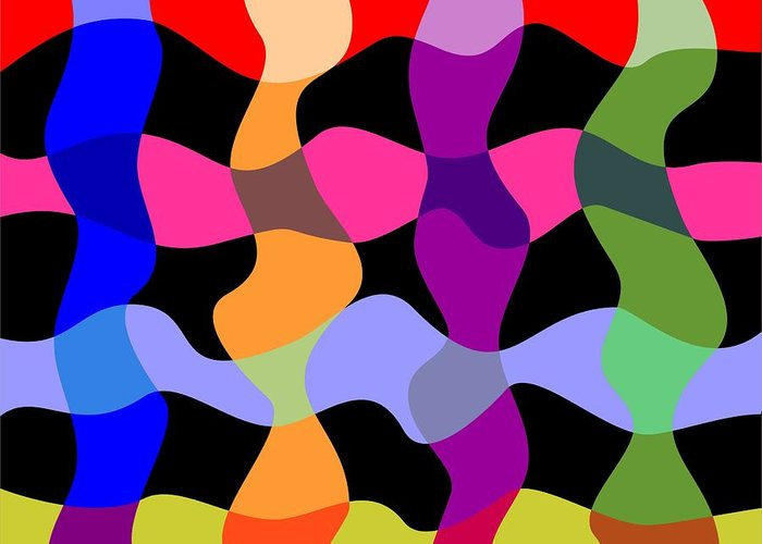 Abstracts Greeting Card featuring the digital art Colorfield Theory, No. 1 by Walter Oliver Neal