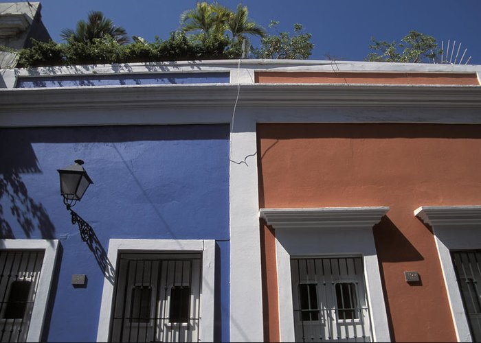 Outdoors Greeting Card featuring the photograph Colorful Architecture In Old San Juan by Scott S. Warren
