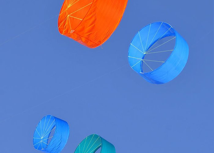 Fine Art Photography Greeting Card featuring the photograph Colorful Kites by David Lee Thompson