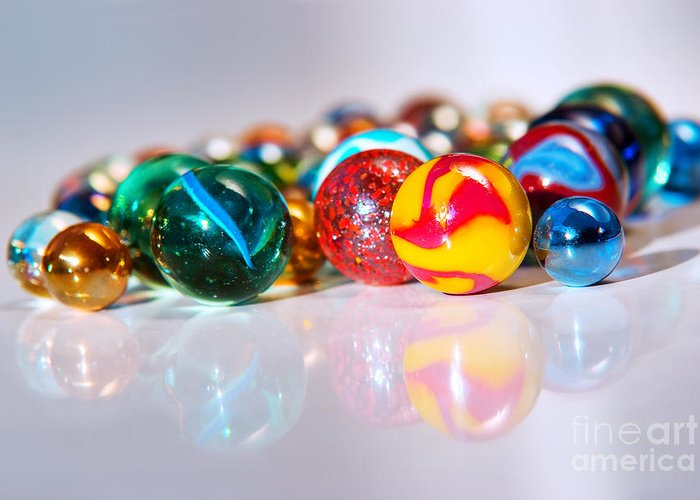 Abstract Greeting Card featuring the photograph Colorful Marbles by Carlos Caetano