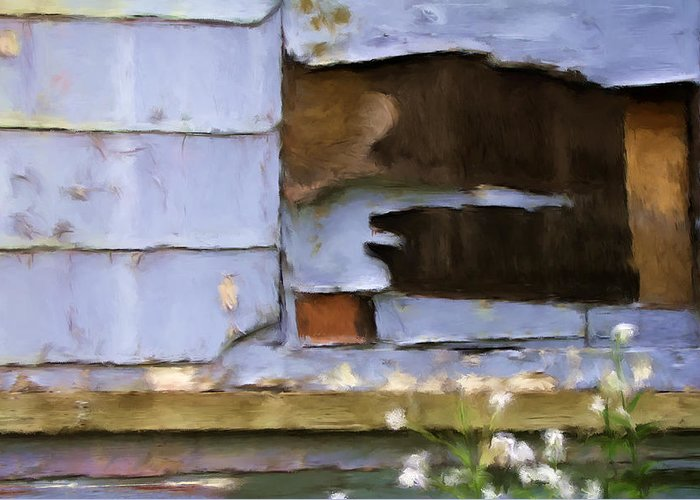 Siding Greeting Card featuring the mixed media Colorful Siding by Renee Skiba