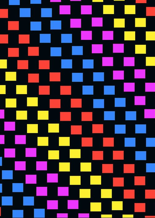Louisa Greeting Card featuring the digital art Colorful Squares by Louisa Knight