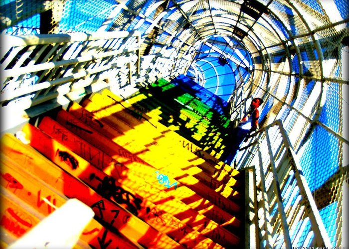 Libra.love.freedom Greeting Card featuring the photograph Colorful Steps by D Wash