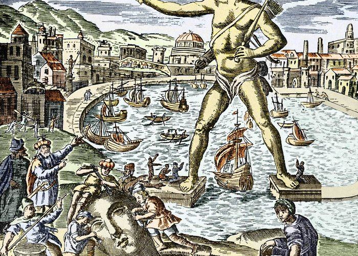 Apollo Greeting Card featuring the photograph Colossus Of Rhodes Statue by Sheila Terry