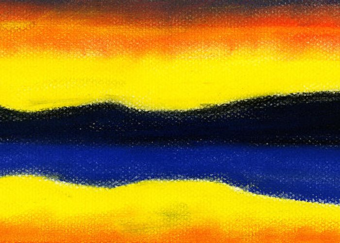 Hakon Greeting Card featuring the painting Colours Of Sky by Hakon Soreide