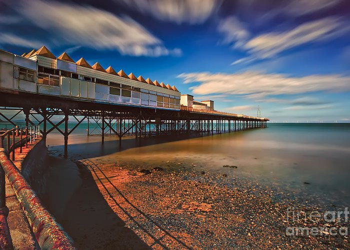 Architecture Greeting Card featuring the photograph Colwyn Pier by Adrian Evans